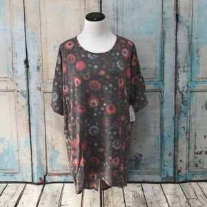 LuLaRoe Irma Top - Crystallized Floral Pattern